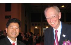 国际水协主席麦克·罗斯勋爵(Michael J Rouse)在第五届世界水大会开幕宴会上会见